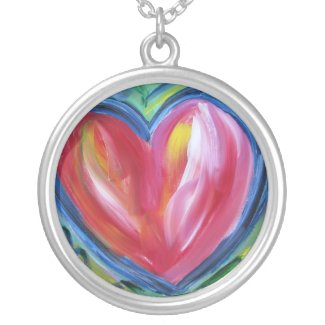 Heart with Hope Silver Necklace