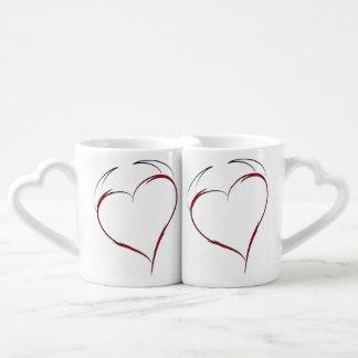 Heart with Horns Coffee Mug Set