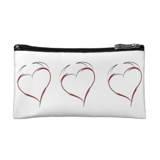 Heart with Horns Cosmetic Bag