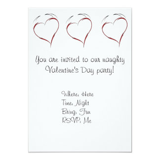 Heart with Horns 5x7 Paper Invitation Card