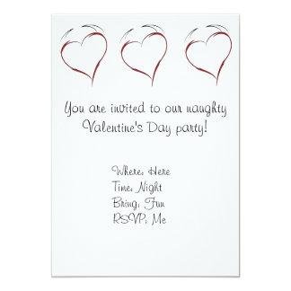 "Heart with Horns 5"" X 7"" Invitation Card"