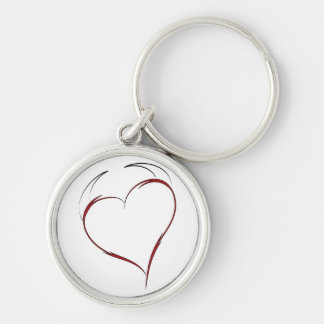 Heart with Horns Key Chains
