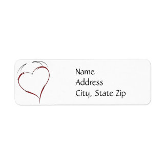 Heart with Horns Return Address Labels