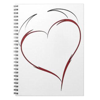 Heart with Horns Spiral Notebook