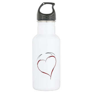 Heart with Horns Water Bottle