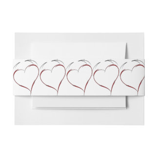 Heart with Horns Invitation Belly Band