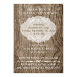 Heart with initials on wood wedding couples shower card