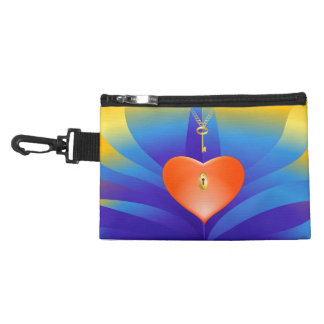 Heart with Key Accessory Bag