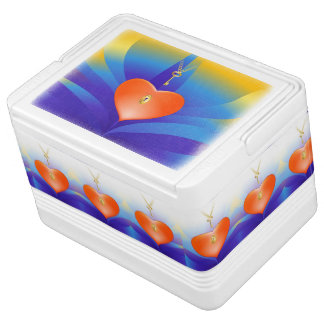 Heart with Key Igloo Can Cooler