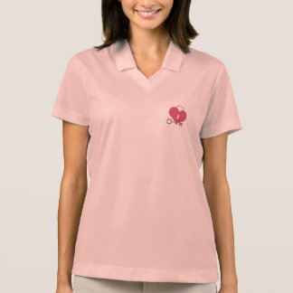 heart with lock and key polo shirt