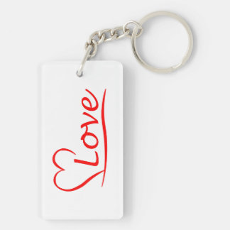 Heart with love keychain