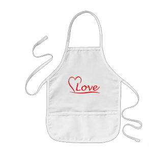 Heart with love kids' apron