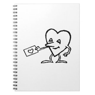 Heart with Love Letter Spiral Notebook
