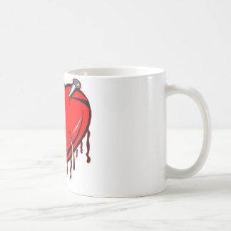 Heart with Nails Coffee Mug