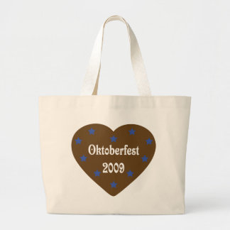 Heart with Oktoberfest icon Canvas Bags