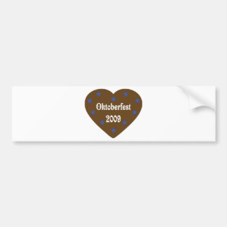 Heart with Oktoberfest icon Bumper Sticker