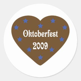 Heart with Oktoberfest icon Classic Round Sticker