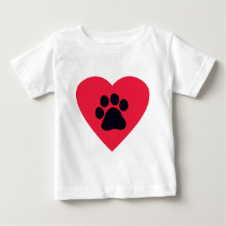 Heart with Paw Print Baby T-Shirt
