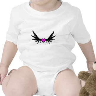 Heart With Roughened Wings Rompers