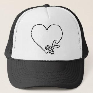 Heart with Scissors Trucker Hat