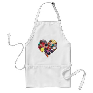 Heart with Scottie Dogs Adult Apron