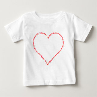 Heart-With-Scratch-(white) Infant T-shirt