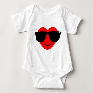 Heart with Sunglasses. Baby Bodysuit