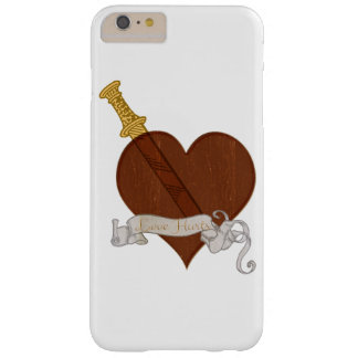Heart With Sword Love Hurts Barely There iPhone 6 Plus Case