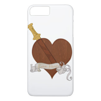 Heart With Sword Love Hurts iPhone 8 Plus/7 Plus Case