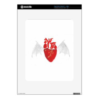 Heart With Tattered Wings Skin For iPad