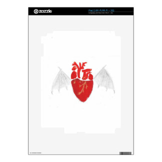 Heart With Tattered Wings Skin For iPad 2