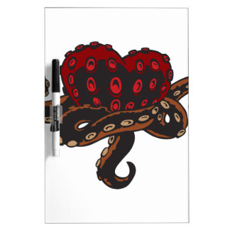 Heart with Tentacles Dry-Erase Board
