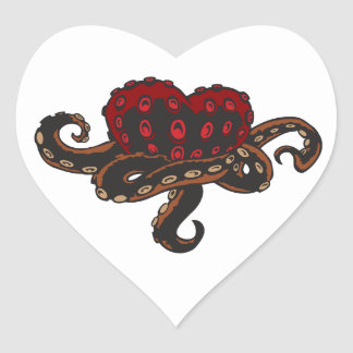 Heart with Tentacles Heart Sticker