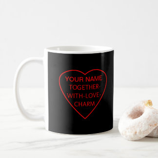 Heart with TOGETHER-WITH-LOVE-CHARM Switchwords Coffee Mug