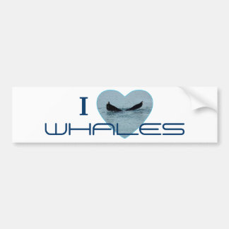 Heart with Whale Tail Photo Car Bumper Sticker