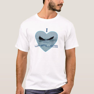 Heart with Whale Tail Photo T-Shirt