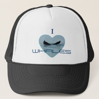 Heart with Whale Tail Photo Trucker Hat