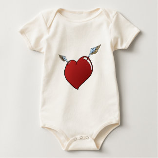 Heart with Wings Baby Bodysuit