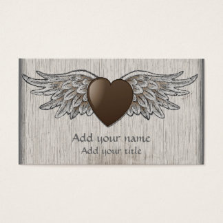 Heart with Wings Business Card