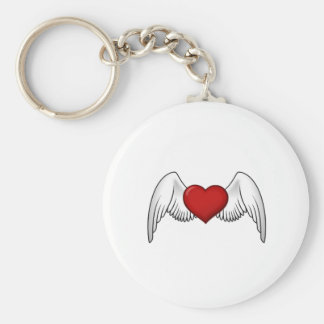 Heart with Wings Keychain