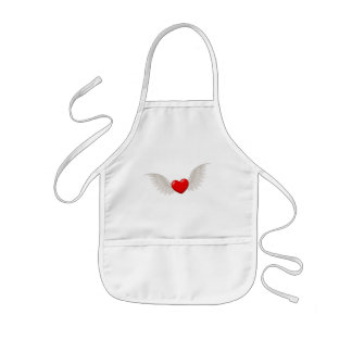Heart With Wings Kids' Apron