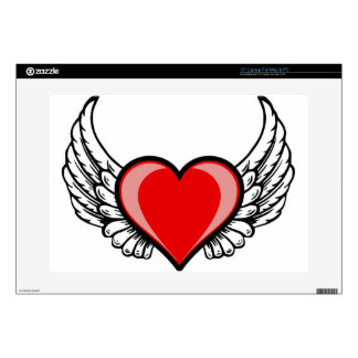 heart with wings laptop skin
