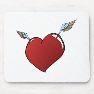 Heart with Wings Mouse Pad