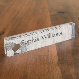 Heart with Wings Name Plate