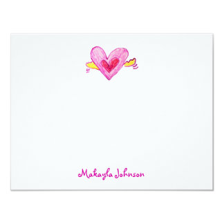 Heart with Wings Note Cards