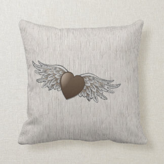 Heart with Wings Throw Pillows
