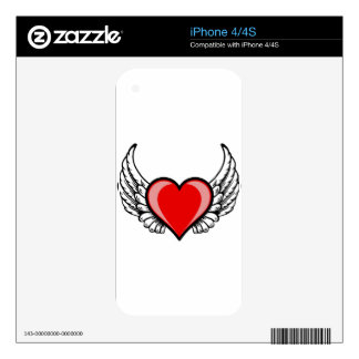 heart with wings skin for the iPhone 4S