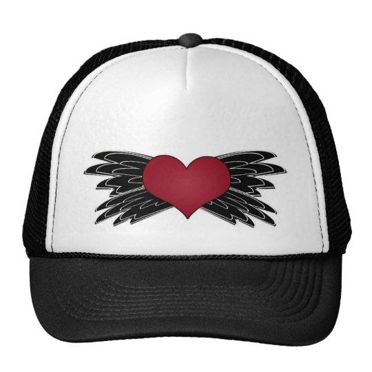 """heart with """"wings"""" trucker hat"""