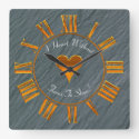 Heart Without Love, Gold Roman Numerals Design Square Wall Clock (<em>$33.45</em>)