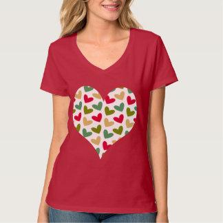 """""""Heart"""" Women's Hanes Nano V-Neck T-Shirt"""